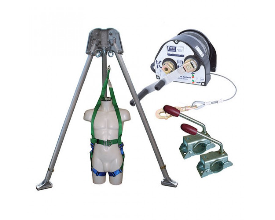 Abtech Safety Confined Space Kit with 27m Man Riding Winch and Rescue Harness CST4KIT