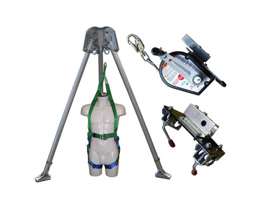 Abtech Safety Confined Space kit with 30m Man Riding Winch and Rescue Harness CST6KIT
