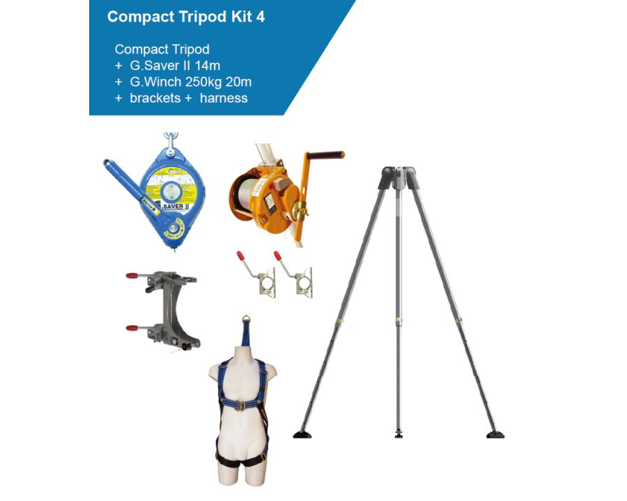 Globestock COMPACT TRIPOD KIT 4 14m