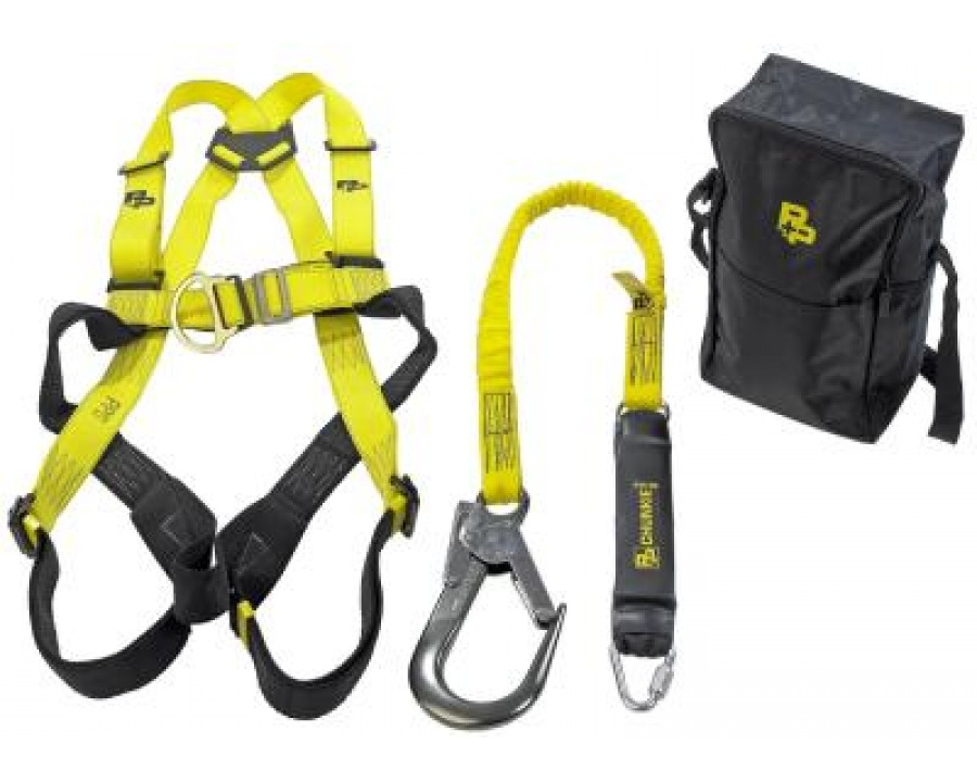 P+P Fall Arrest Harness & Lanyard Kit #DELUXE KIT