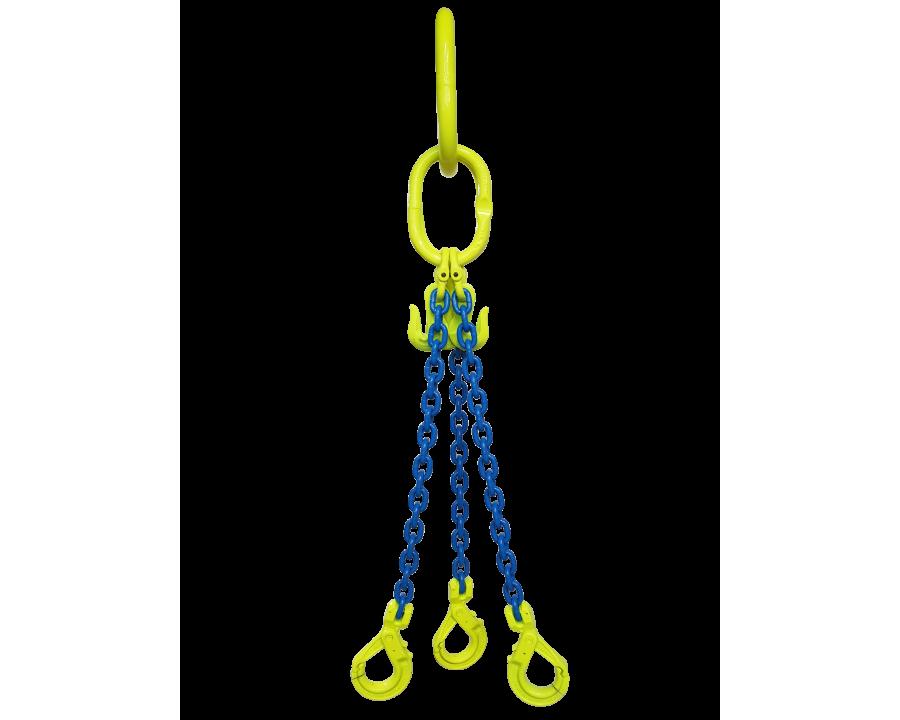 Gunnebo Grade 10 6mm Three Leg 2.9 Tonne Chain Sling
