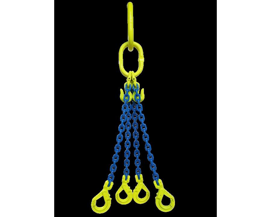 Gunnebo Grade 10 6mm Four Leg 2.9 Tonne Chain Sling