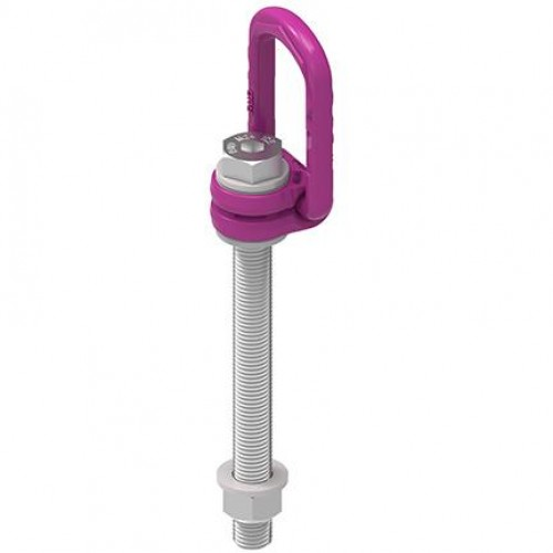 ICE-LBG-SR - ICE Load ring for bolting SUPER ROTATION®, metric thread with max length, comes with locknut and washer