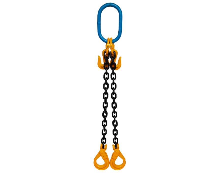 Yoke Grade 8 7mm Double Leg 2.1 Tonne Chain Slings