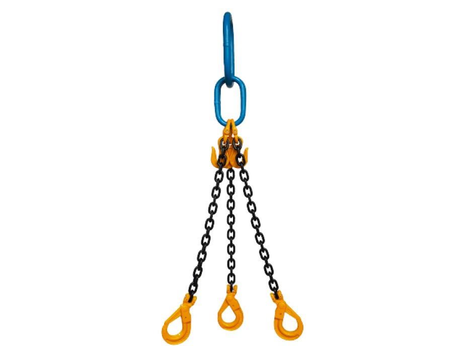 Yoke  Grade 8 7mm Three Leg 3.1 Tonne Chain Sling
